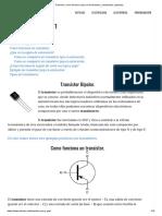 Transistor, Como Funciona, Tipos de Transistores, Polarización, Ejemplos..