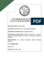 0206 - 12003  HISTORIA DE LA FILOSOF+ìA MODERNA - CLAUDIA JAUREGUI - MARCELO MENDOZA HURTADO