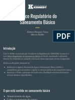 Marco Regulatório Do Saneamento Básico - Apresentação
