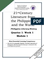 21st Century Literature q1 w1 Mod1