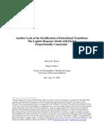 Hauser (2006)  logistic response model