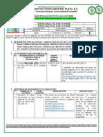 Informe Trabajo Pedagógico en Familia 2020 Nº 8 Lectoescritura 705 y 706