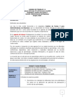 Agenda de Trabajo No 4 ACII Grupo B321 2021