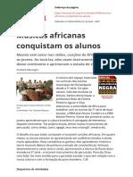 Musicas Africanas Conquistam Os Alunospdf