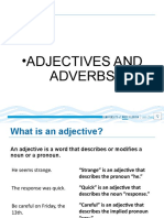 3rd Meeting Adjectives and Adverbs