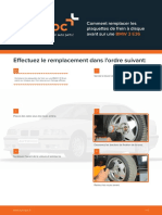 Comment remplacer les plaquettes de frein à disque avant sur une BMW 3 E36