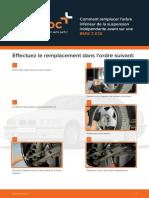 Comment Remplacer l'Arbre Inférieur de La Suspension Indépendante Avant Sur Une BMW 3 E36
