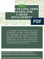 Phases of Long-Term Coaching for Career Development
