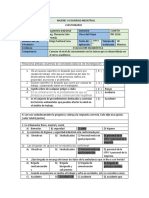 CUESTIONARIO DE DIAGNOSTICO Higiene y seg. ind