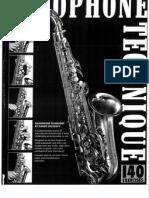 Saxophone Technique