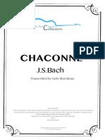 Chaconne, Bach (Transcr.C.marchione)