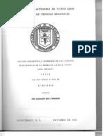 Estudio descriptivo y florístico de las unidades sinecológicas de la Sierra de la Silla, Nuevo León, México.