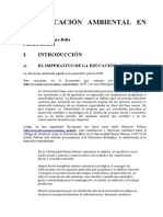 La educación ambiental en la Universidad Simón Bolívar