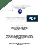 INCIDENCIA DE LOS SISTEMAS DE INFORMACION GERENCIAL EN EL MANEJO DE LAS CUENTAS POR COBRAR EN LA TIENDA DE ELECTRODOMESTICOS DEL MUNICIPIO DE NAGUA; CASO