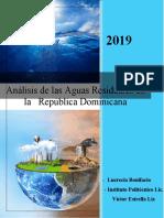 Análisis de Las Aguas Residuales en La República Dominicana