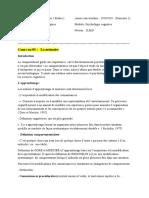 Psychologie Cognitive Cours 05