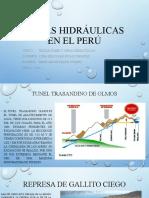 OBRAS HIDRÁULICAS EN EL PERÚ