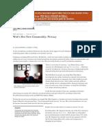 Web's Hot New Commodity