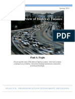 An Overview of Highway Finance