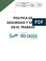 Pcr-pt001 Politica Sst