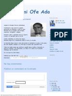 Eniiyi Omi Ofe Ada_ Bernardo Rojas - Irete Untendi