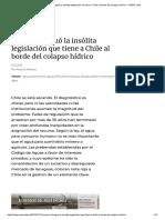 Cómo Se Fraguó La Insólita Legislación Que Tiene a Chile Al Borde Del Colapso Hídrico – CIPER Chile