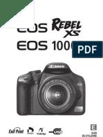 manual Canon EOS 1000 D
