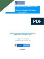Informe de Gestion Institucional 2019