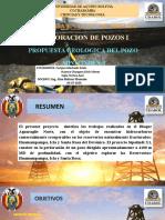 PRESENTACION DEL POZO SIP.X-1