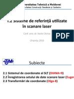 T.2 Sisteme de referință utilizate în scanare laser