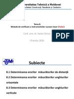 T.8 Metode de verificare a instrumentelor scanare laser (1)