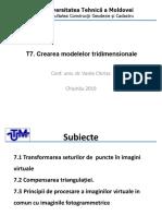 T.7 Crearea modelelor tridimensionale