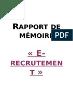 rapport de mémoire e-recrutement