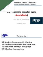 T.3 Principiile Scanării Laser