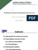 T.6 Metode de Procesare a Măsurătorilor Laser