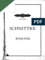 Alfred Schnittke - Requiem (Edition Peters. Leipzig)