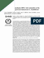 cuantificacion mediante HPLC del contenido en flavonoides de Hypericum balearicum L Guttiferae