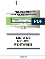 Lista de Nichos Rentáveis (List of Profitable Niches)