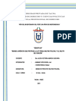 MONOGRAFIA BIENES JURÍDICOS QUE PROTEGE LA LPMP Y EL DELITO DE FUNCIÓN FECHA 01 DE FEBRERO DEL 2021 (1)