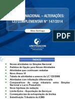 SIMPLES NACIONAL - ALTERAÇÕES LEI COMPLEMENTAR N 147-2014 - IESDE