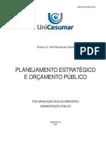 Planejamento Estraégico e Orçamento Público APOSTILA