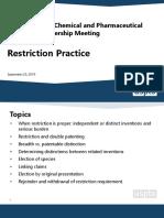 20190904-Patents Ops-BCP Restriction presentation-Final