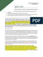 Financial Analysis Case O01 and OA01