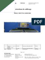 instructions de calibrage Shuttle SB816 fr