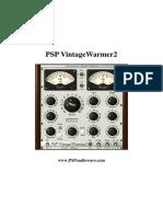 PSP VintageWarmer2 Manual