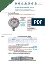 Criterios de selección Instrumentos de medición caso manometros