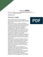 Folha de S.Paulo - Boris Fausto_ Tolerância e religião - 10_09_2001
