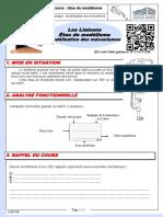 C26  Document eleve - TP application - liaisons et schema cinematique - etau modelisme