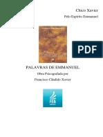 Palavras de Emmanuel - Psicografia de Francisco Cândido Xavier