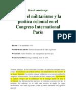 13. Sobre el militarismo y la política colonial en el Congreso International París